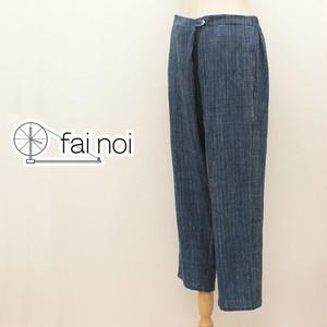 fainoi 九分丈パンツ(18A-EK-33-BL)
