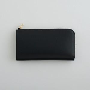 【受注製作】革の財布L ブラック