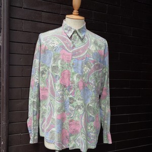 Paisley Patterned Long Sleeve Shirt  ペイズリー 総柄  長袖 シャツ