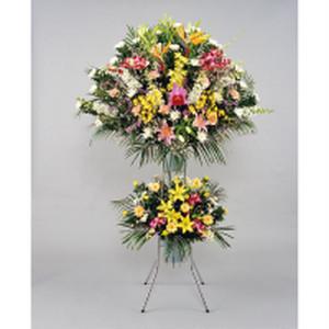 葬儀用スタンド花-02