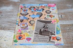 気球のポストカード3枚セット