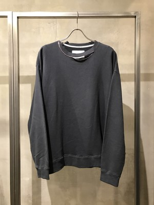TrAnsference extended parts sweat top - imperfection black