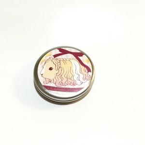 ふわふわ長毛モルモットのメンタム缶ケース