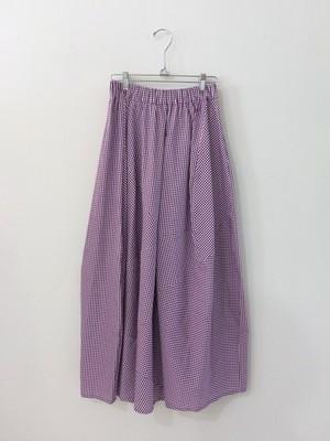 GINGHAM CHECK ロングスカート