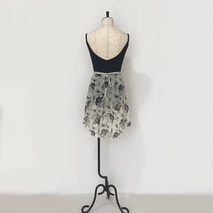 "◇""Tatiana"" Ballet Wrap Skirt - Monochrome Flower [Sheer]( モノクローム・フラワー[シアー])"