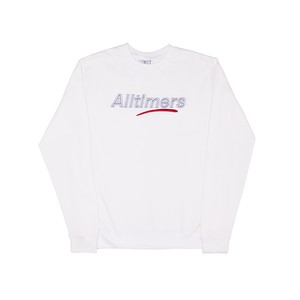 ALLTIMERS / DASHED CREW -WHITE-