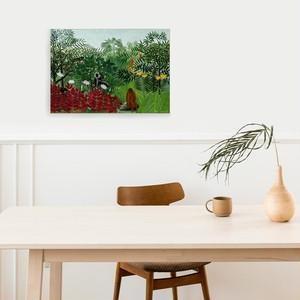素敵なアートパネル A2サイズ サルのいる熱帯林  アンリ・ルソー 石膏ボード用ひっかけ金具付き