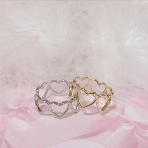 予約 many heart ring