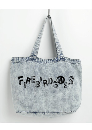 "FIREBIRDGASS DENIM TOTE BAG ""Chemical"""