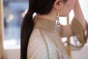 Mame Kurogouchi / TAMAGO-TSUTO Pierced Earrings