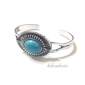 NEW:Turquoise silver bangle