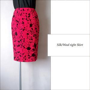 シルク×ウール スカート