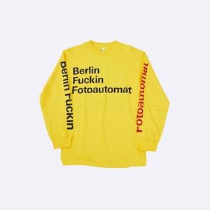 Anoraks | Berlin Fuckin Fotoautomat L/S T-Shirts [Berlin Yellow]