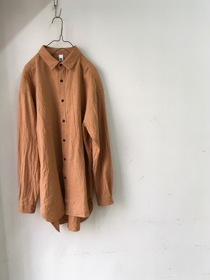 "DA'S/Shirt 4 ""claus""/smoky orange(ダズのクラウスシャツ、スモーキーオレンジ)"