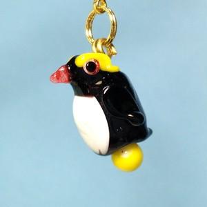 動物とんぼ玉チャーム *イワトビペンギン*