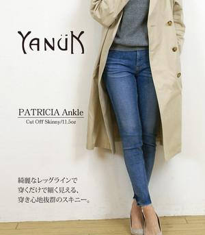 YANUK/ヤヌーク アンクルスキニーパンツ カットオフパトリシアスキニー 57181047 CUT OFF LIGHT BLUE/PATRICIA ANKLE 日本製/MADE IN JAPAN