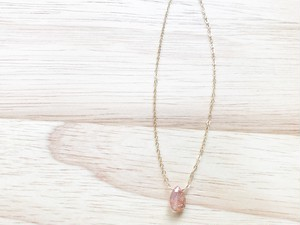 14kgf sunstone necklace