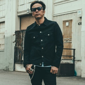 CRIMIE / C1H5-BFJK-04 / BORN FREE BLACK STRETCH DENIM JACKET