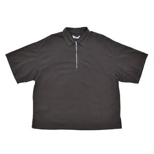 UNDECORATED Cotton Rone Zip Shirt Sumi Black UDS19201