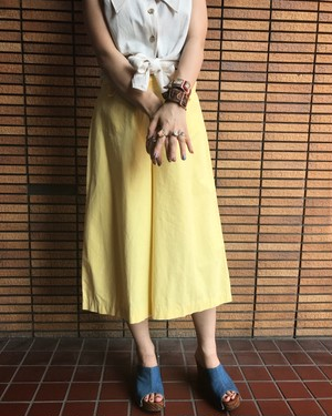 Homemade Yellow Gaucho Pants