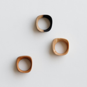 """Square"" Wood ring"