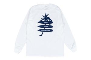 【palm tree long sleeve】/ white