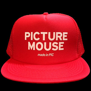 PICTURE MOUSE■メッシュキャップ(RED)