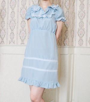 ANNA DRESS blue アンナ・ワンピース ブルー