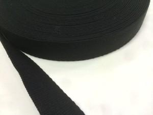 アクリル 三つ綾織 しっかり厚め 黒 30mm幅 50m巻