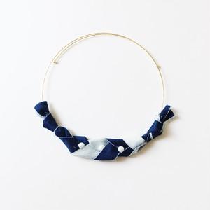 【 三つ編みネックレス(デニム) 】