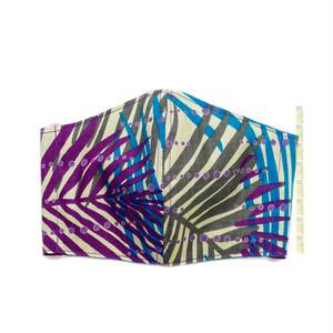 M50/アフリカ布のマスク ▼綿100% 接触冷感 クールローレル スカイコット
