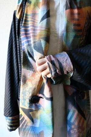 Vintage art pattern haori jacket