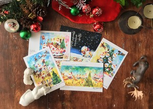 Christmas postcard set.