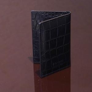 FLORIDA BLACK / PINETTI DOUBLE BUISINESS CARD HOLDER CREAM(フロリダ ブラック / ピネッティ ダブルビジネスカードホルダー)