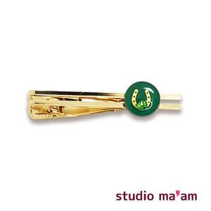 【馬蹄ゴールド】タイピン 06(緑)