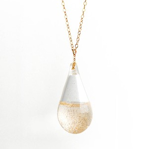 tear drop glass necklace : nss-02