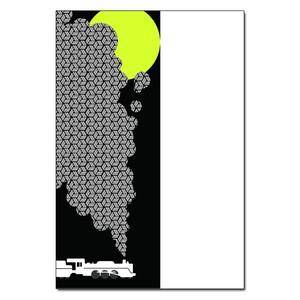 ポストカード「月と籠目」