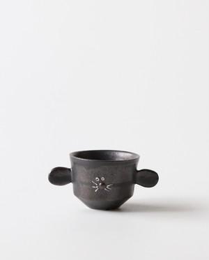 小さな植木鉢(黒ねずみ)