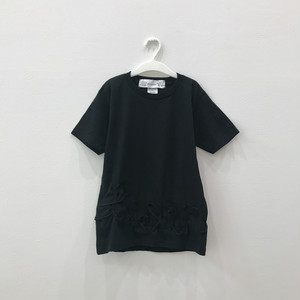 【キッズSサイズ】ビッグシルエットTシャツ(twincow)Black