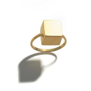 ゴールド(K18)キューブリング