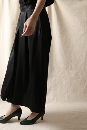 Cacharel Pleated Combination Skirt