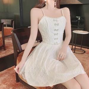 mini ribbon white dress