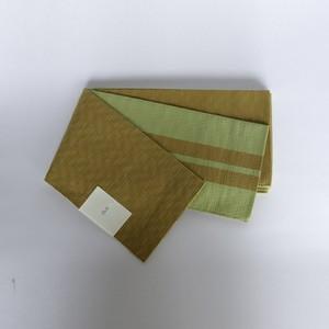 「コットンスラブ半巾帯:マスタード」 天然素材の優しい風合いがコーディネイトの幅を広げます。