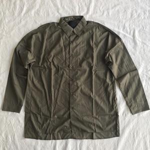 OURET オーレット / 塩縮ナイロンタフタ ボックスドルマンロングシャツ