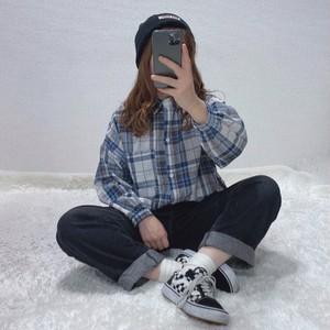 ゆるチェックシャツ[L92-25]
