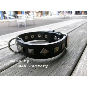 オリジナル首輪】【サイズオーダー可能】M&R Factory オリジナルヌメ革製首輪mr0037 #ボストンテリア #フレンチブルドッグ #パグ