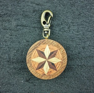 wooden inlaid charm IH-018-TK