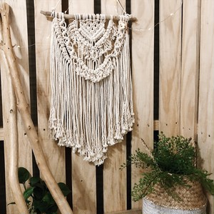 "macrame tapestry ""adorable"""