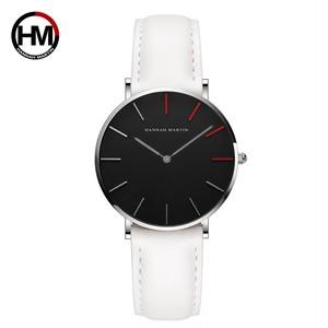 高品質の日本クォーツムーブメント防水デザインクリエイティブな女性の時計ローズゴールドブラックレザーレディース時計36mm1230-HR36-YB