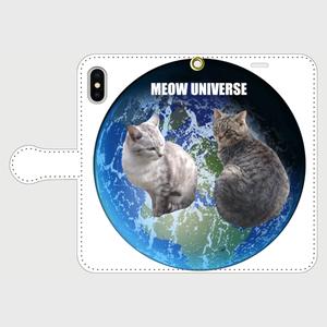 MEOW UNIVERSE・手帳型スマホケース for iPhoneX